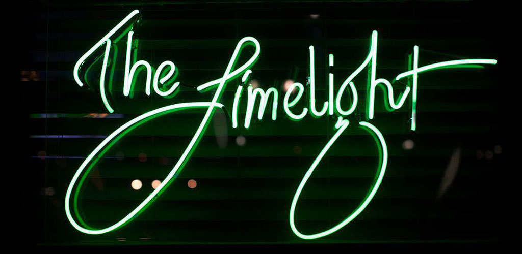 The neon sign at Limelight Bar and Café