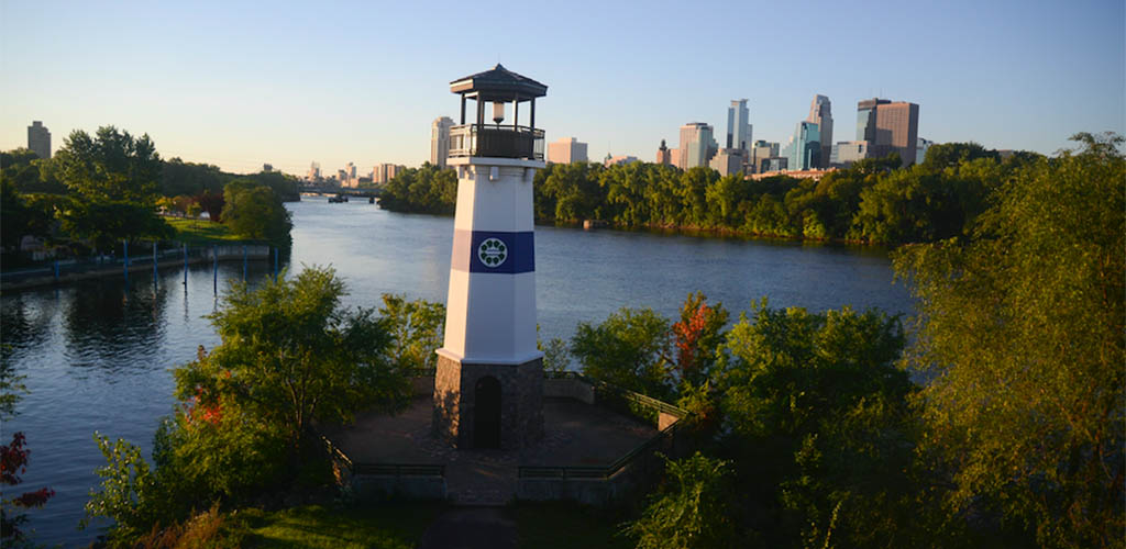 The lighthouse at Boom Island Park