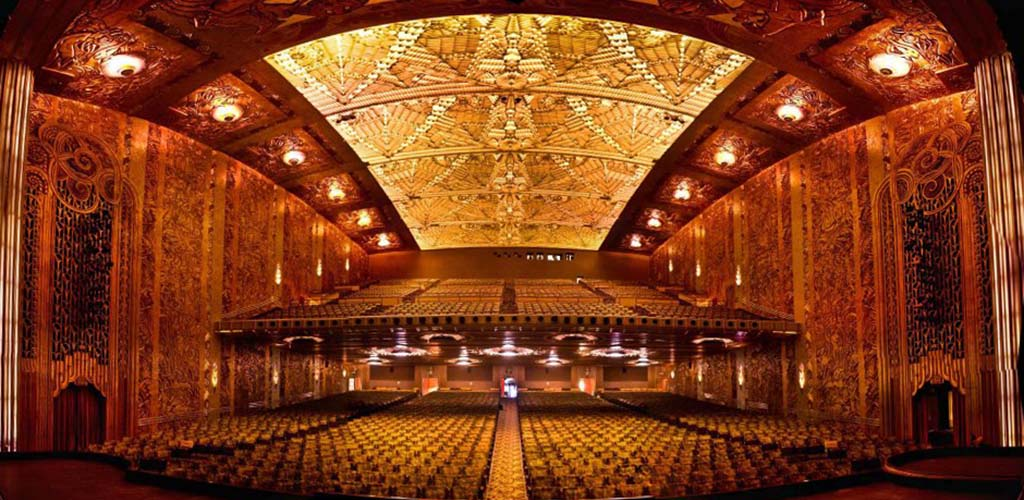 The opulent interior of the Paramount Theatre of the Arts