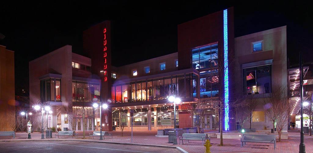 Signature Theater at night