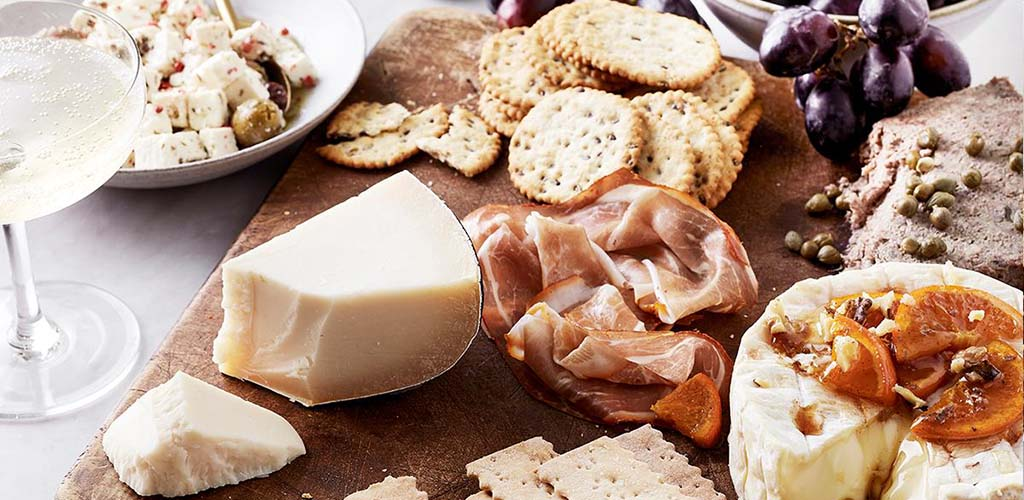 A charcuterie board from Whole Foods Market
