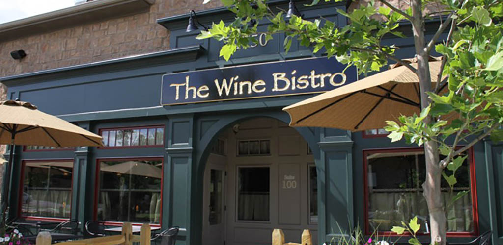 The front of Wine Bistro on a sunny day