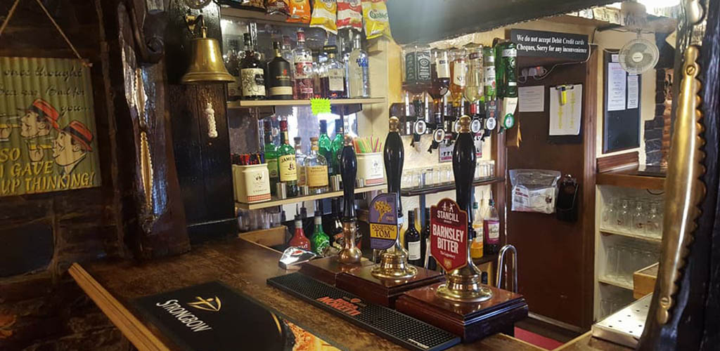 The beer taps at Red Lion