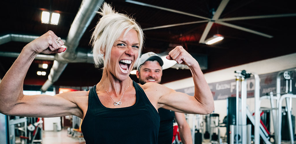 A fit older woman at Atlantis Gym