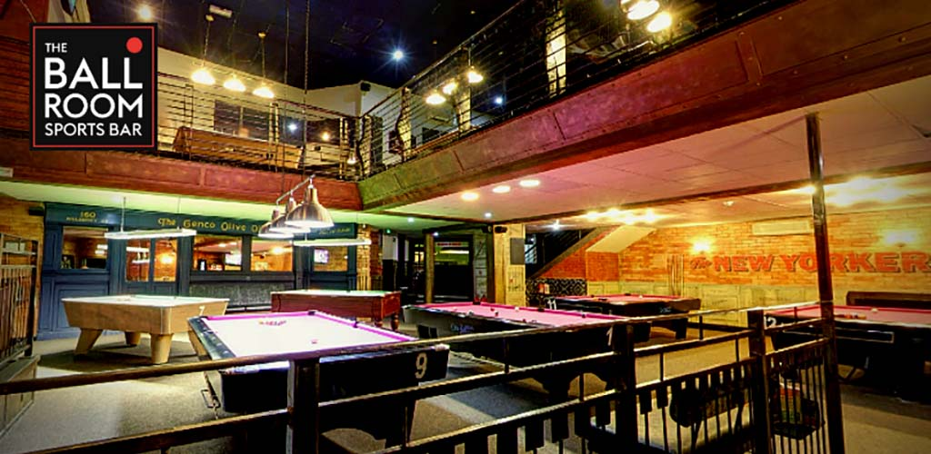 The pool tables at The Ball Room