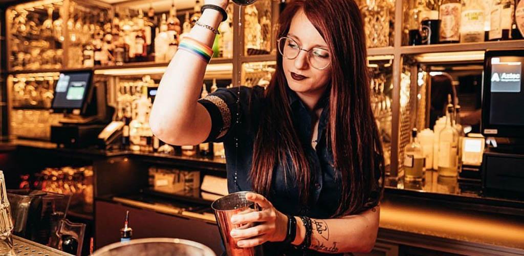 The beautiful bartender at Be at One Bar