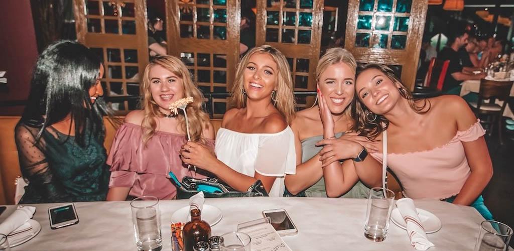 Beautiful MILFs in Portland at a get together in Brix Tavern