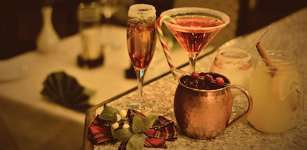 Festive cocktails from Da Claudio