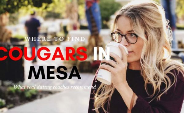 A Mesa cougar drinking coffee while walking