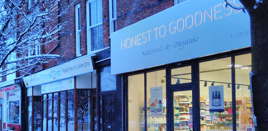 Honest to Goodness Natural and Organic Foods in winter