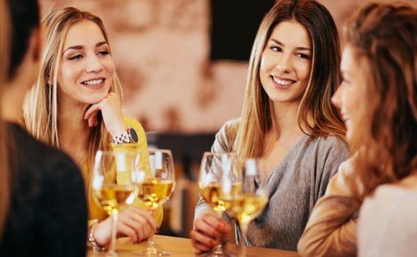 Albuquerque MILFs drinking champagne at a bar