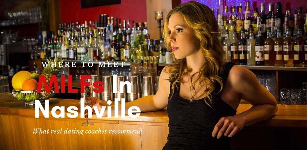 A beautiful Nashville MILF drinking champagne at a bar