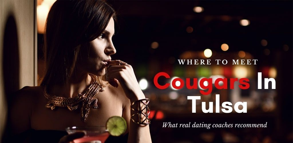 A Cougar in Tulsa sipping cocktail by the bar