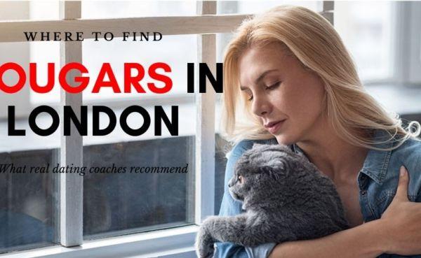 Single cougar in London hugging her pet