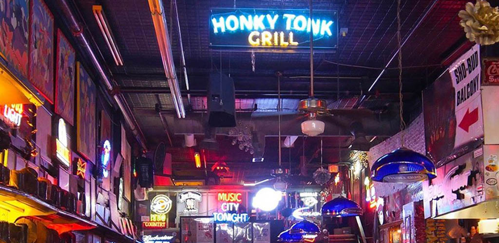 Neon signs at Robert's Western World