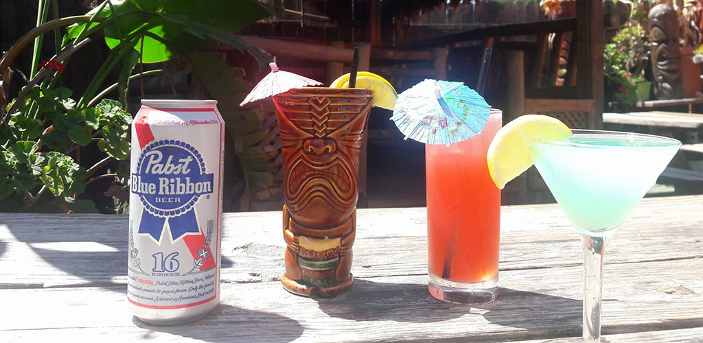 Hideaway Bar & Grill drink options for a hot day