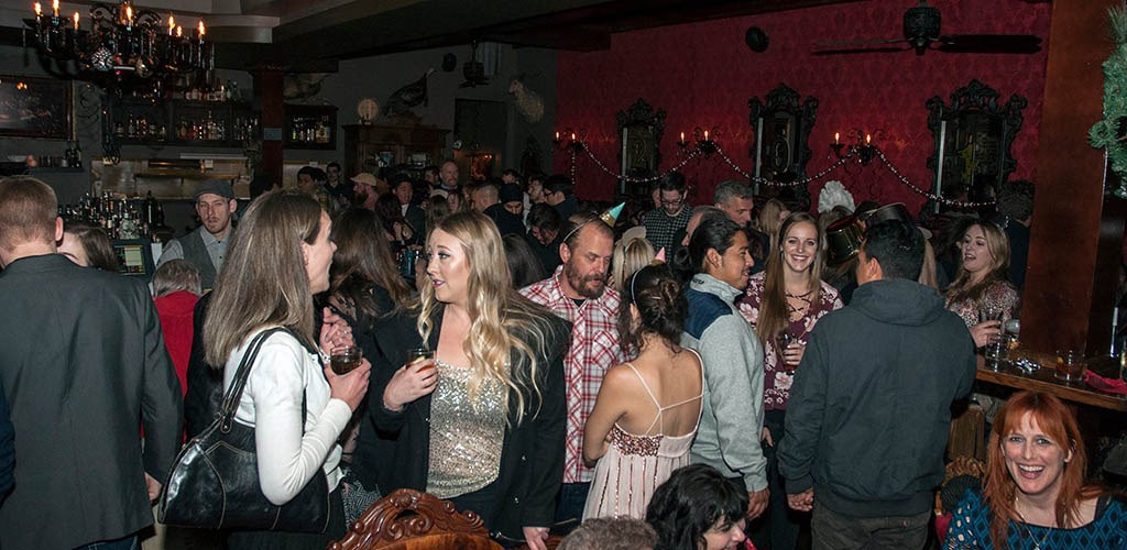 A large crowd of singles at The Shady Lady Bar