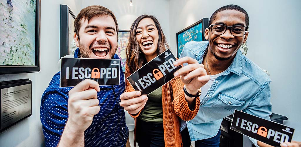 Friends who won The Escape Game