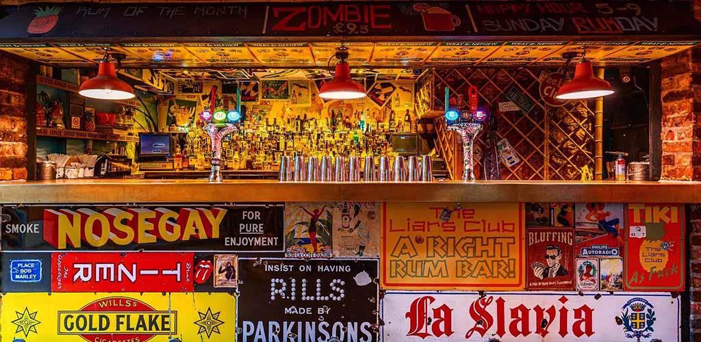 The bar at The Liars Club