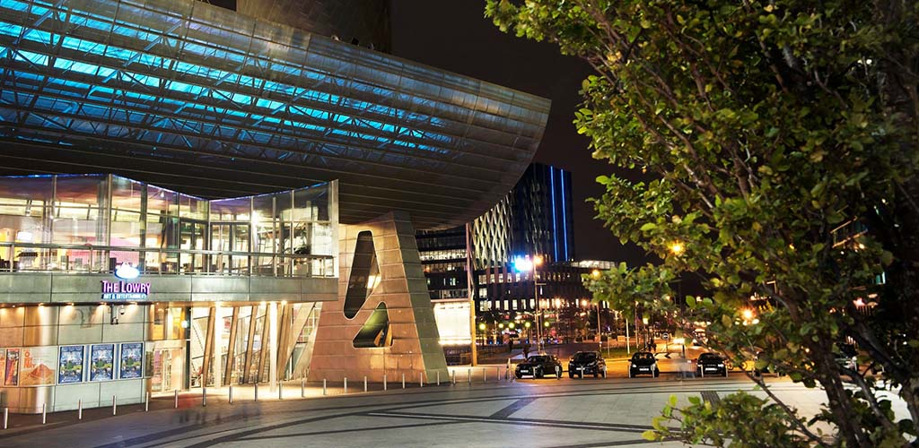 The exterior of The Lowry