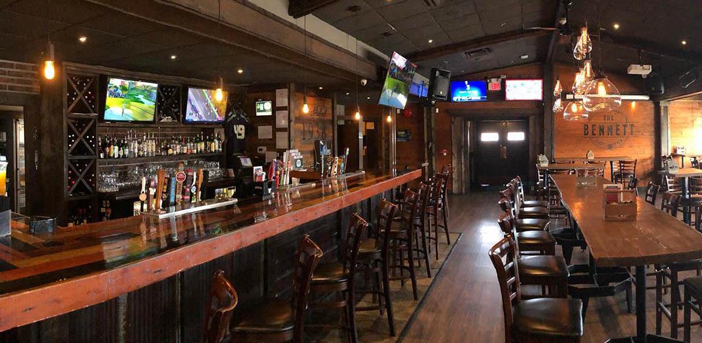 The bar at The Bennett