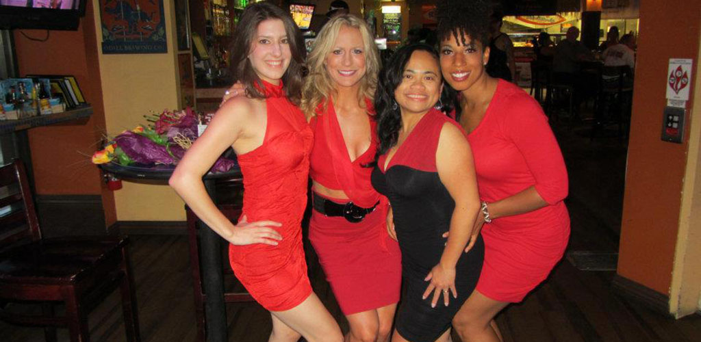 Cougars in Colorado Springs wearing red for an event at Parrot