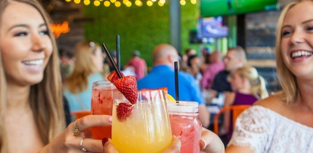 Cute Mesa cougars enjoying drinks at Whiskey Row Gilbert