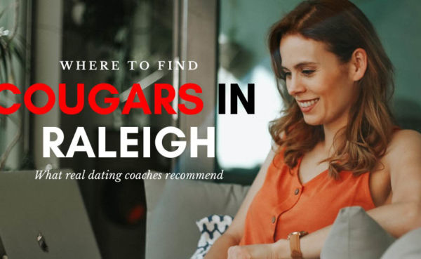 A Raleigh cougar on her laptop