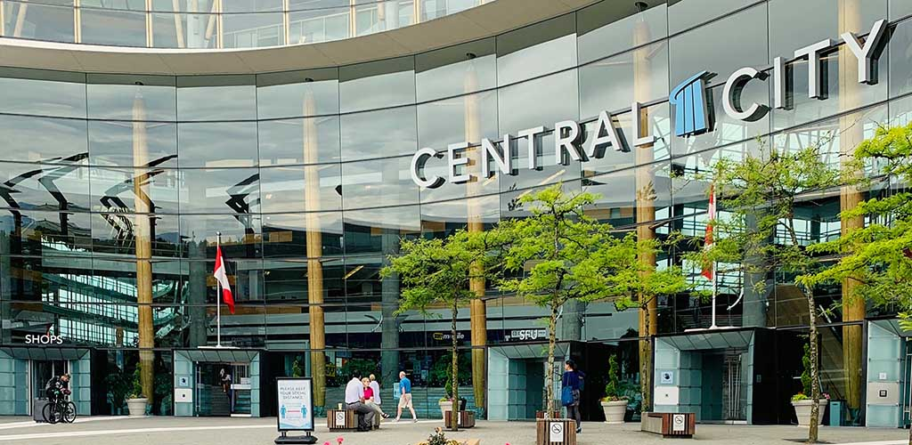 The glass building of Central City Shopping Center