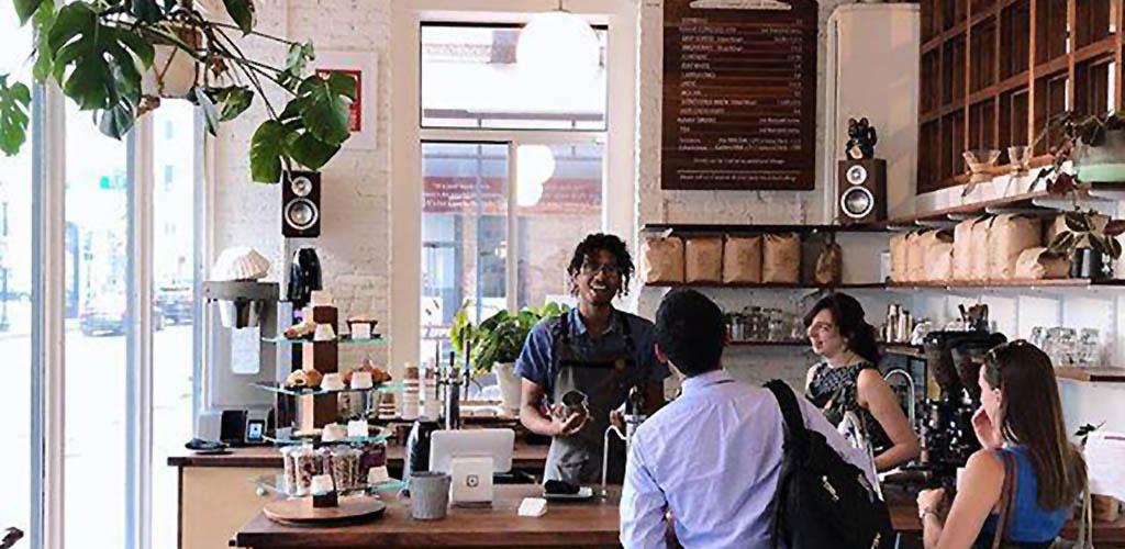 The line at Gracenote Coffee Boston