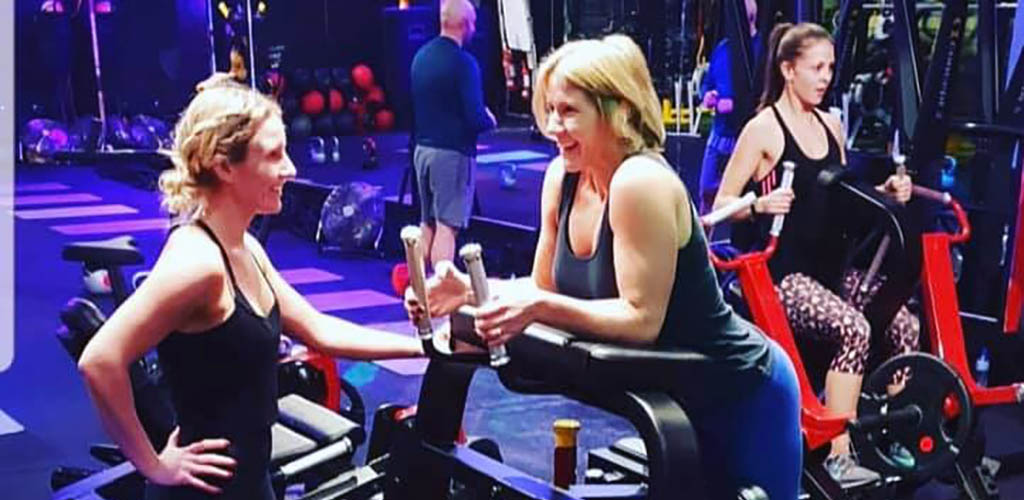 Ladies chatting between workouts at Gravity Health Club