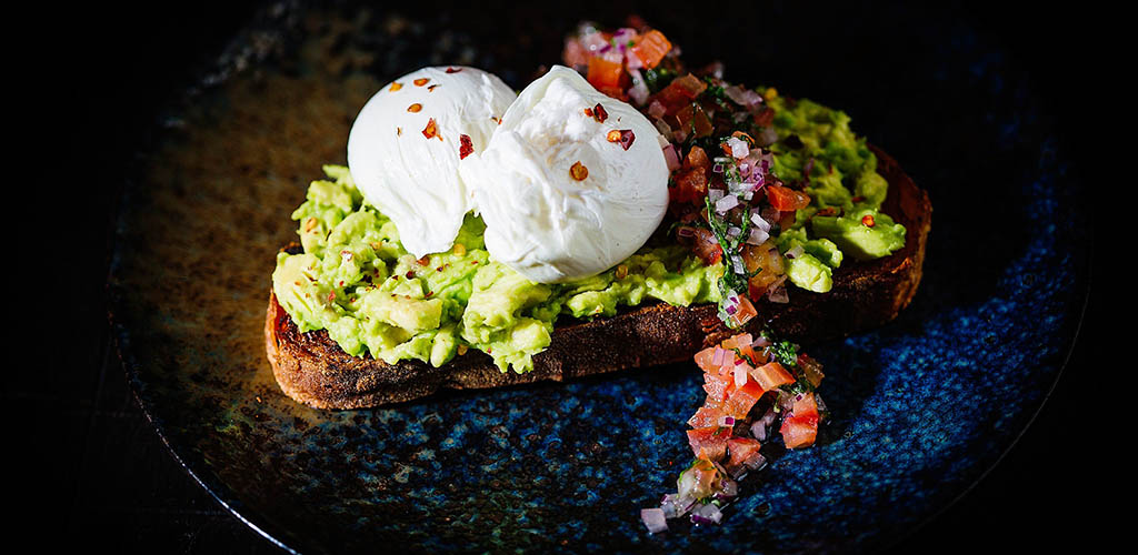 Avocado and eggs on toast from Hotel du Vin