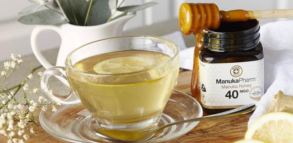 Tea and Manuka honey from Holland and Barrett