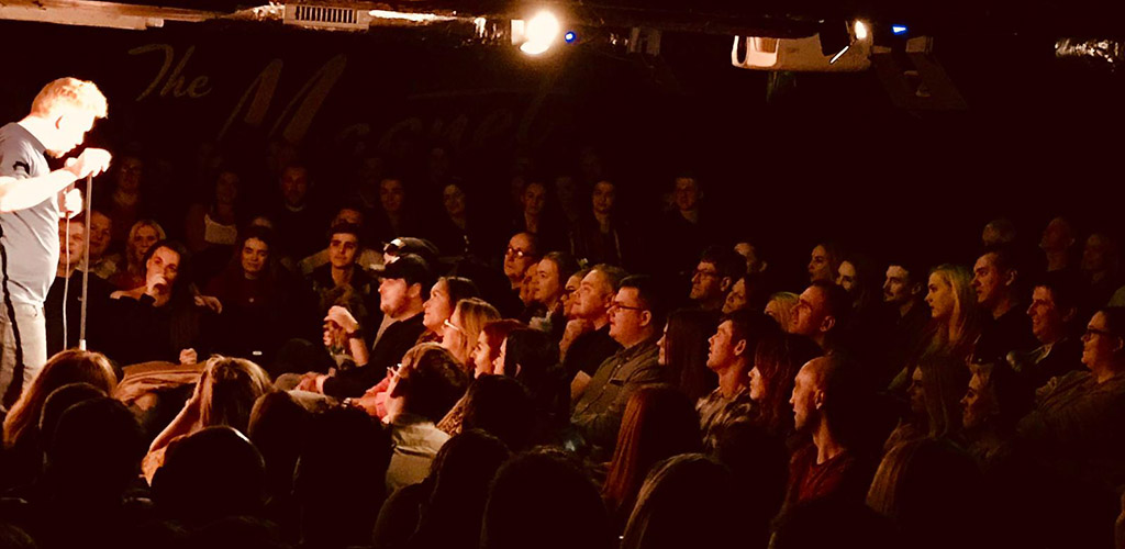 A comedy show at Hot Water Comedy Club