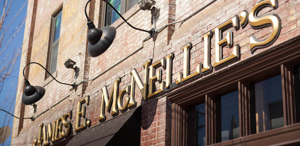 The rustic sign of McNellies