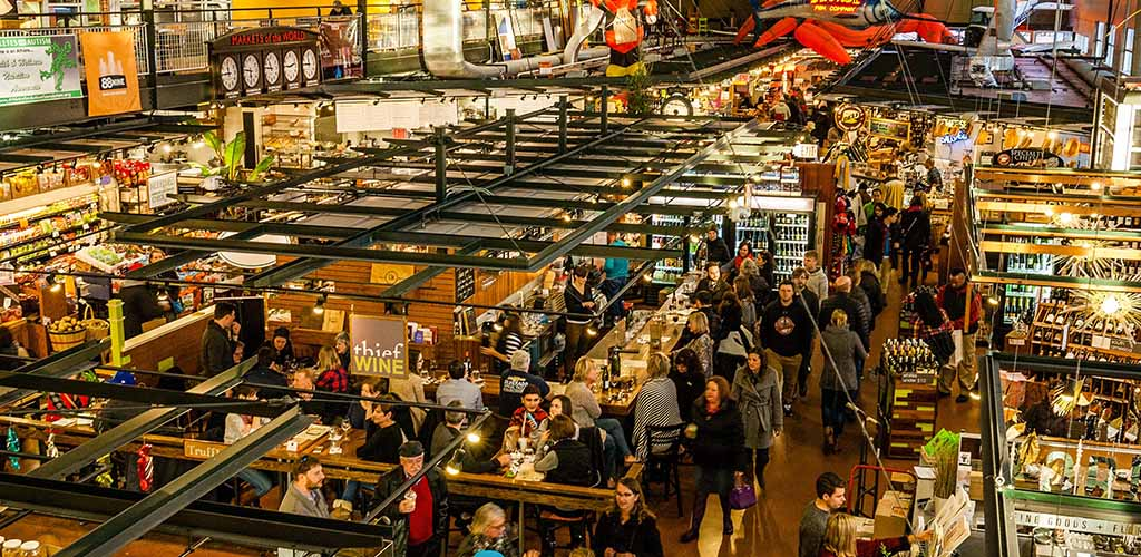 Lots of people flock to the Milwaukee Public Market on weekends