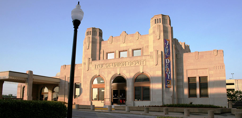 The exterior of Oklahoma Jazz Hall of Fame