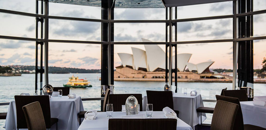 The gorgeous view at Quay Restaurant