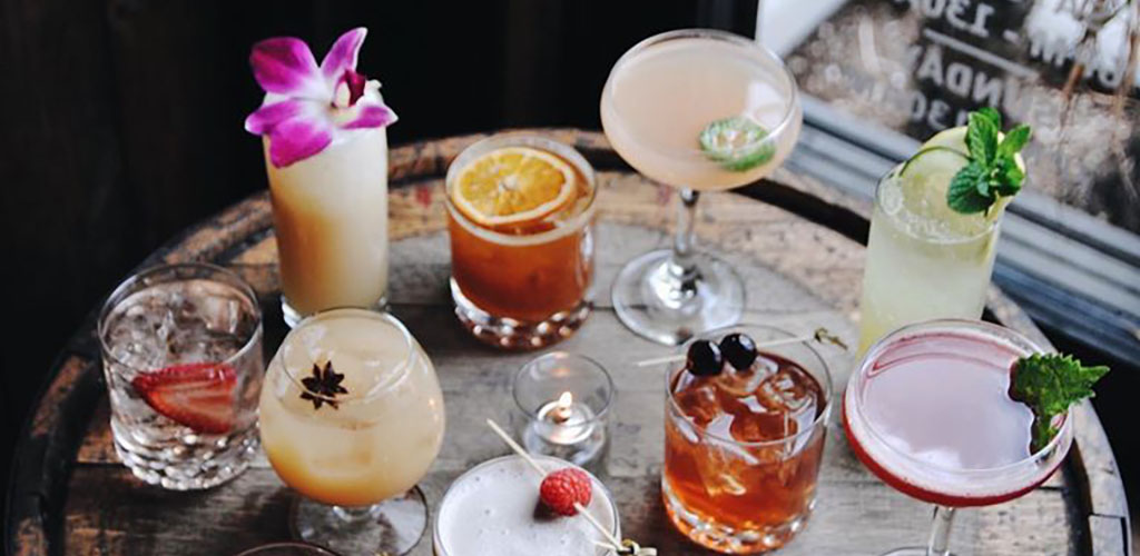 An assortment of cocktails from Swig