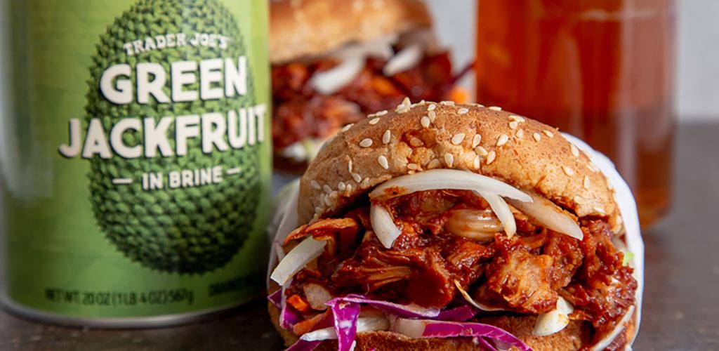 A kimchi burger from Trader Joe's