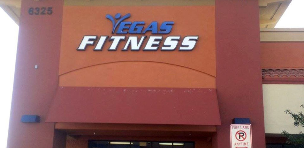Vegas Fitness sign in the front
