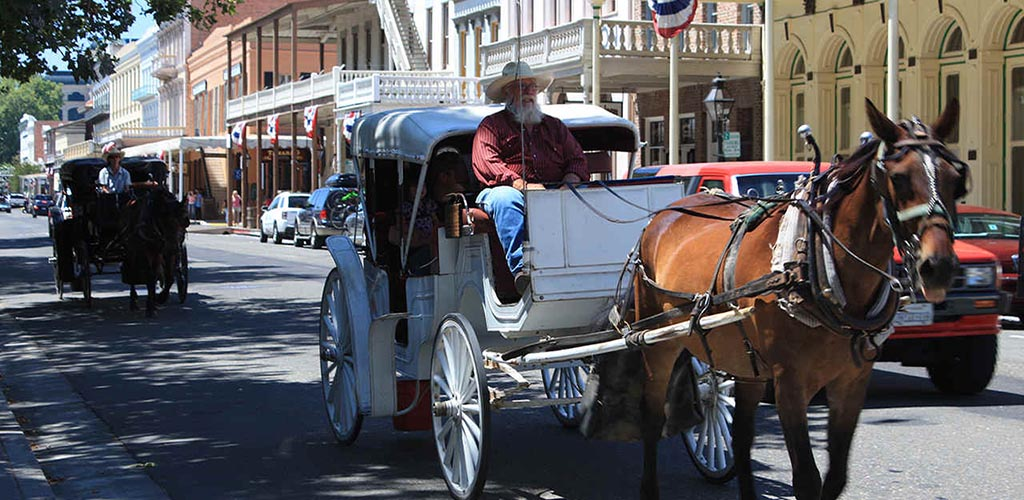 The buggy from The Historic Walks Sacramento Tours