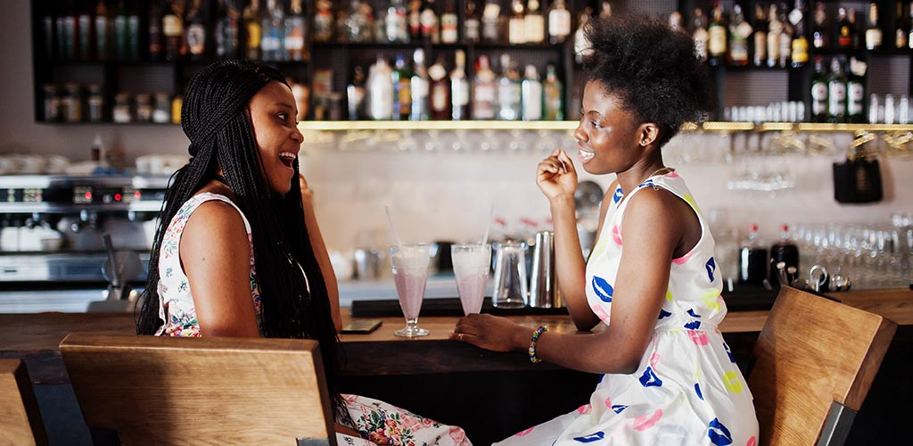 Sociable ladies at a cougar bar in Johannesburg South Africa