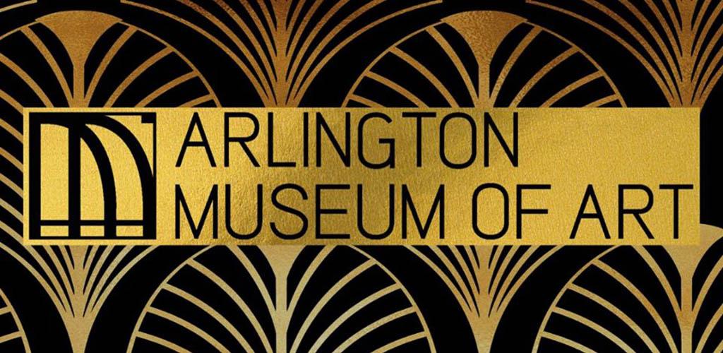 The elegant Art Deco sign of the Arlington Museum of Art
