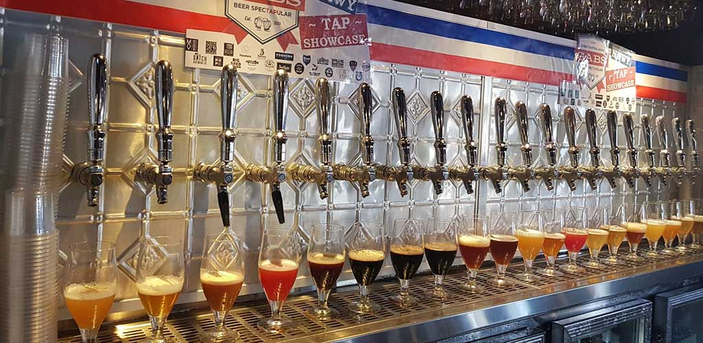 Beer taps in Grain Store