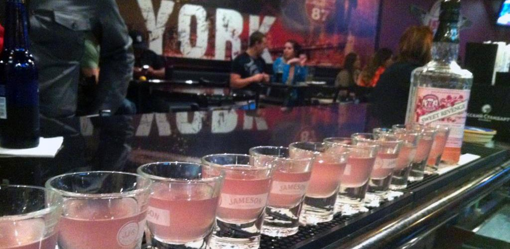 A row of shots from Just Wing