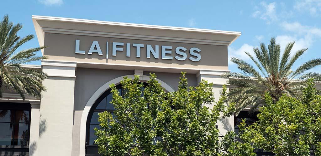 Outside LA Fitness