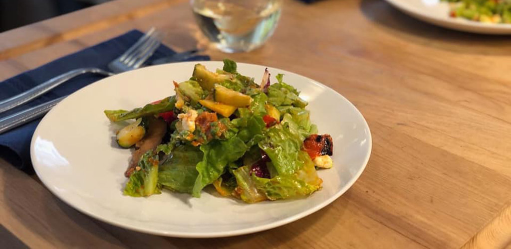 A salad from La Piazza Allegra