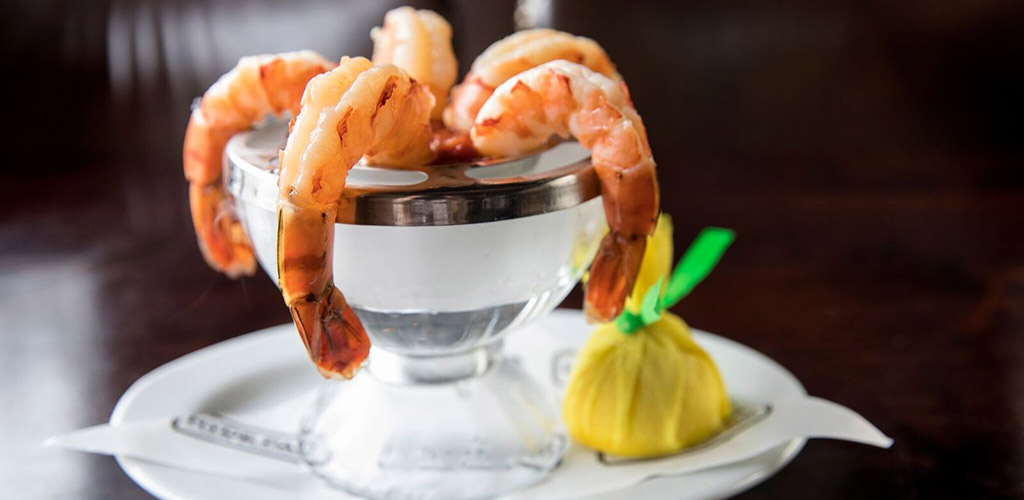 A shrimp cocktail from ML Tavern