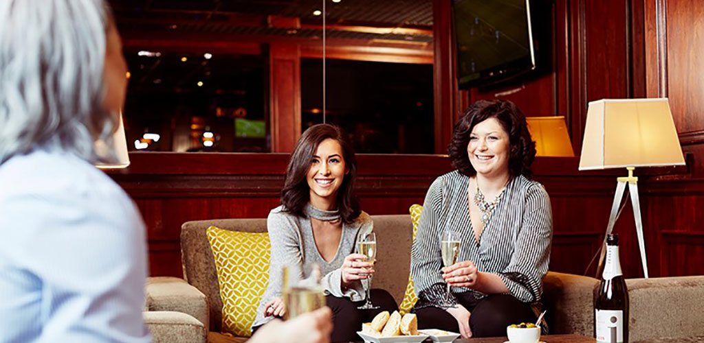 Hot older women having drinks at Napoleon's